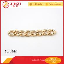 OEM couturière en forme de chaîne en forme de chaîne accessoires chaîne en métal