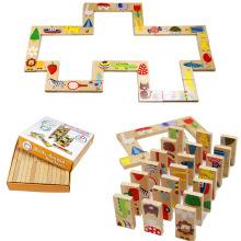 FQ nagelneues hölzernes Domino für Kinder Heißer Verkauf hölzernes Domino-Spielzeug