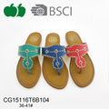 New Design Ladies High Fashion Pu Slippers