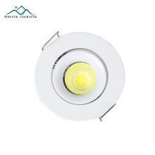 Precio barato blanco cálido empotrado comercial aluminio mazorca led spot 3w