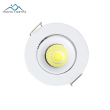 Cheap price Warm White Recessed commercial aluminium cob led spotlight 3w