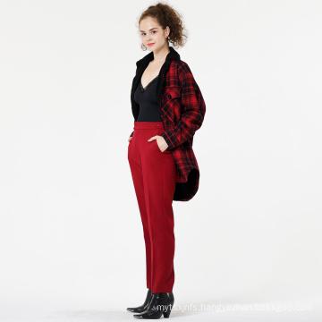 High Waist Women's Casual Trousers