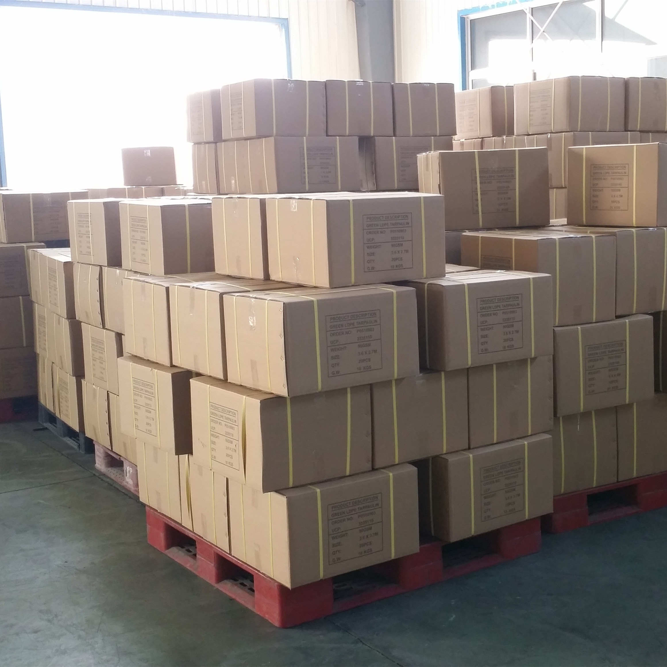 PE tarp carton packing