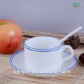 HOT SALE STONEWARE TEA CUP & SAUCER SET