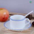 HOT SALE STONEWARE TEA CUP &SAUCER SET