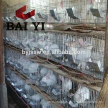 Cage à lapins en acier inoxydable 24 portes