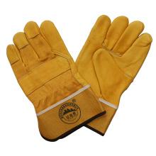 Luvas protetora para o trabalho do condutor resistente ao corte de couro em grão