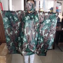 Outdoor PVC Military Camouflage Rain Poncho