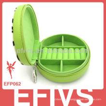 Colorized oval-shaped caja de joyería decorativa al por mayor para los anillos