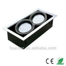 Led light shenzhen manufacturer hot sell epistar chip 2*18*1w led grille light