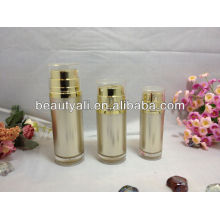 Plastic acrylic cosmetic lotion bottle with double pumps