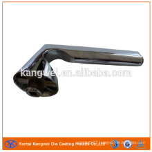 Zinc Die Casting Door Handle with Polishing and Chrome Plating Finish