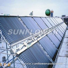 Pressure tubular solar collector panels