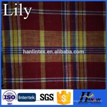 stocklot yarn dyed woven fabric 100%cotton and cvc