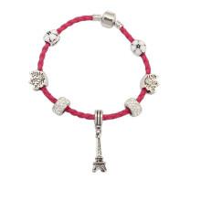Pulseira de couro de embrulho atacado colorido bracelete de couro cordão charme pulseira