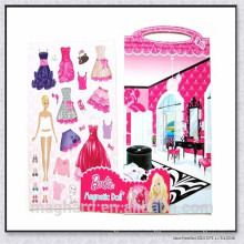 Creative educational magnetic puzzle----Magnetic Dressup Doll playset kids' toy