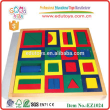 12pcs Hot Sale Hardwood Geometric Educational Toy Blocks