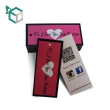 Diseño común Rectángulo papel de tela colgar etiqueta con forma de corazón