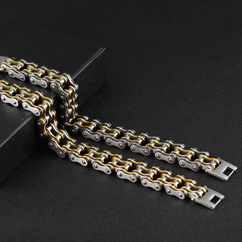 Mens Motorcycle Chain Bracelet