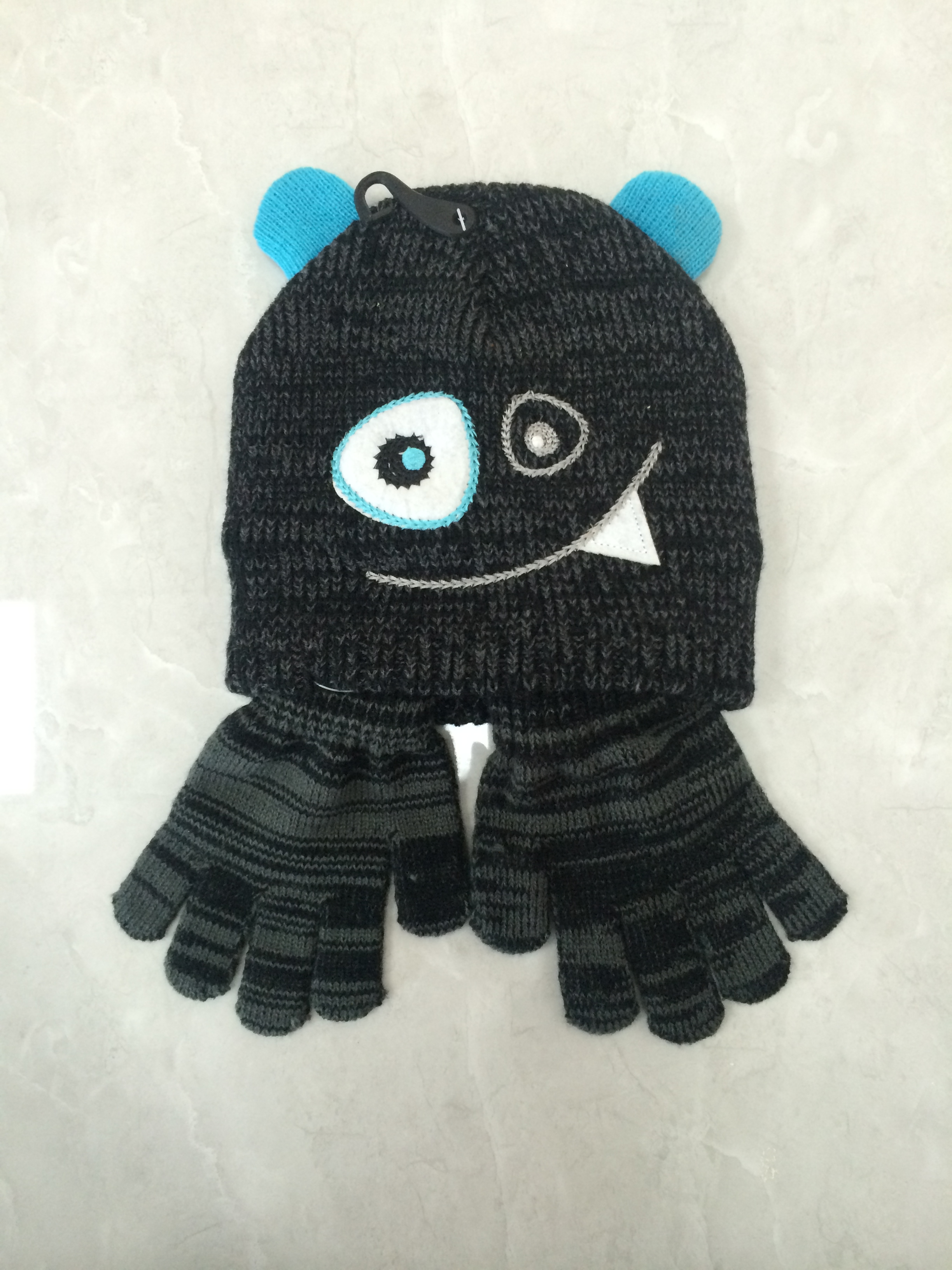 Animal Winter Knitting Hat Gloves