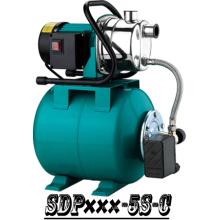 (SDP800-5S-C) Jardín autocebantes Jet Booster bomba con tanque de acero
