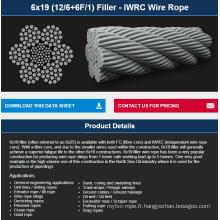 Remplisseuse 6X19 (12/6 + 6F / 1) - Câble métallique IWRC