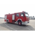 Howo 4x2 water fire engine bed truck red
