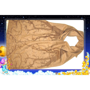 Cashmere Print Tree Scarf Camel