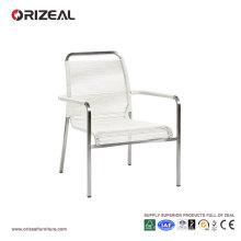 Silla de salón al aire libre con PVC redondo que teje OZ-OR048