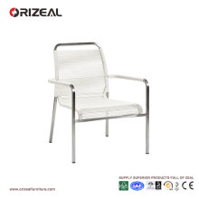 Outdoor Lounge Chair with Round PVC Weaving OZ-OR048