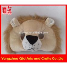 Máscara de leão de festa de pelúcia animal brinquedo