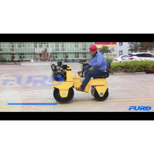 Grand stock de 700kg Ride On Double Drum Vibration Road Roller