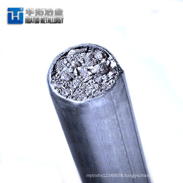 Reliable calcium silicon cored wire