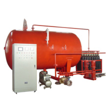 Использовать газовое оборудование с приводом водоснабжения для противопожарных