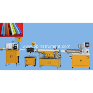 PLC control single screw plastic pipe extrusion line