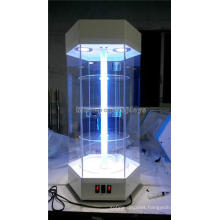 Free Design Lockable Floor Standing 4-Shelves Led Lighting Wholesale Acrylic Hexagon Display Cases