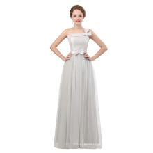 2018 новый дизайн длина пола вечернее платье серого цвета на одно плечо элегантные вечерние платья для женщин