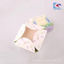 Caja de papel de impresión de jabón negro de papel de arte de impresión de alta calidad brillante sin pegamento