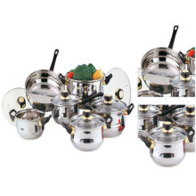 Amazon Vendor 12PC Stainless Steel Cookware Frypan Casserole Pot Set