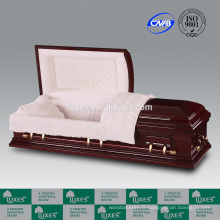 LUXES Style américain gros cercueil en bois Bordeaux cercueils en carton