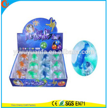 Hot Sell Kid's Toy Rubber LED Flashing Dino Light-up Hi Bouncing Ball