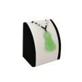White PU Leather with Black Coating Jewelry Pendant Holder (WPS1)