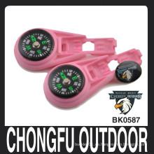 Chongfu al aire libre rosa bebé cremallera clips para paracord