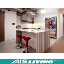 Mobília barata dos armários de cozinha do bloco liso do projeto moderno do preço (AIS-K949)
