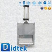 Didtek pneumatic actuator cast steel Knife rectangular gate valve