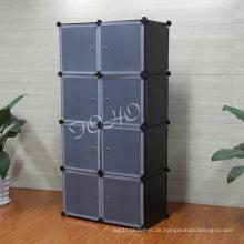 8 Würfel Kleiderschrank mit schwarzer Farbe Körper (FH-AL0030-8)