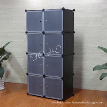 8 Cube Wardrobe with Black Color Body (FH-AL0030-8)