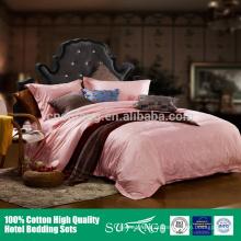 conjuntos de alta qualidade da cama de cama do hotel do bordado 60s do jacquard