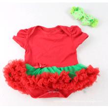 vente en gros Noël Imprimé pas cher infantile Vêtements Barboteuses