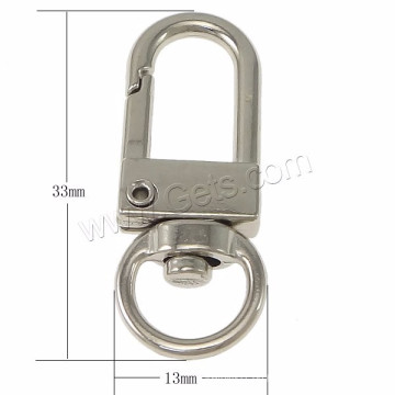Fabrik Großhandel Armband drehbare Karabinerverschluss Zink-Legierung 3cm Mini-Schäkel